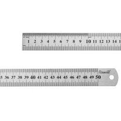 Przymiar liniowy ze stali 500 mm, CON-MRS-1050 Wiertła
