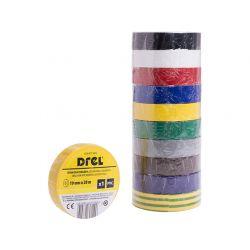 Taśmy izolacyjne PVC mix kolorów 19mm x 0,18 mm x 20 m, 10 szt., CON-BTI-3909 Węże i zraszacze