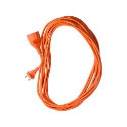 Przedłużacz ogrodowy, kolor pomarańczowy, długość 20m, 2x1mm2, 10A, przewód w izolacji PVC, 1 gniazdo bez uziemienia, OMY, CON-KCO-20210 Pozostałe