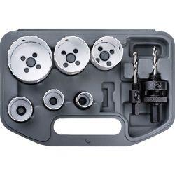 Zestaw otwornic BiMetalowych 19-57 mm oraz adapterów, CON-AOS-9157 Piły