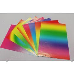 Zeszyt papierów kolorowyxh A5 tęczowych Przybory geometryczne