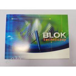 Blok techniczny biały A4 Bloki
