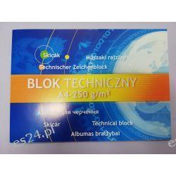 Blok techniczny biały A4 250g Bloki