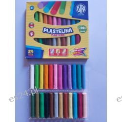 Plastelina 24 kolorowa Astra Przybory geometryczne