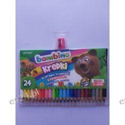 Kredki 24 kolorowe w drewnie Bambino Kredki