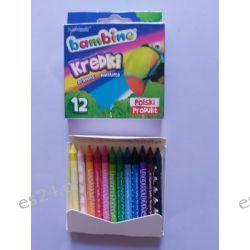 Kredki 12 kolorowe Bambino Przybory geometryczne