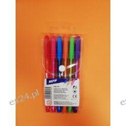 Zestaw długopisów fluo 6 kol MFP Temperówki