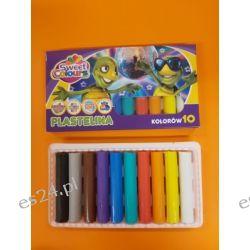 Plastelina 10 kolorowa Koma-Plast Ołówkowe