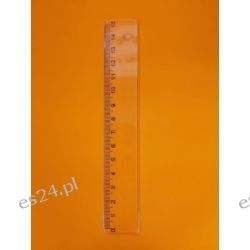Linijka 15 cm transparentna LES