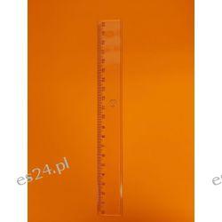 Linijka 20cm transparentna LES Przybory geometryczne