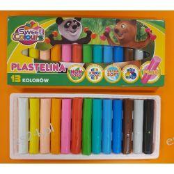 Plastelina 13 kolorowa Koma-Plast Nożyczki