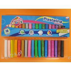 Plastelina 18 kolorowa kwadratowa Koma-Plast Artykuły szkolne