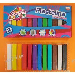 Plastelina 12 kolorowa kwadratowa Koma-Plast  Artykuły szkolne