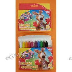 Kredki woskowe 10 kolorowe Koma-Plast Artykuły szkolne