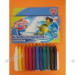 Kredki woskowe 12 kolorowe jumbo Koma-Plast Artykuły szkolne