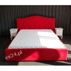 Łóżko czerwone z materacem 160cm i stelażem  Lustra