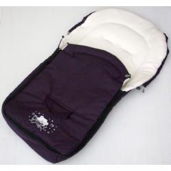 Śpiworek do wózka NESTOR środek z polaru aplikacja misia fiolet