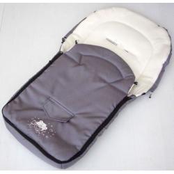 Śpiworek do wózka NESTOR środek z polaru aplikacja misia szary