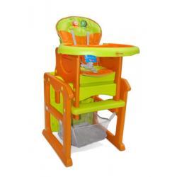 Krzesełko do karmienia MAX MILLY MALLY rozkładane na stoliczek do zabawy tutti frutti