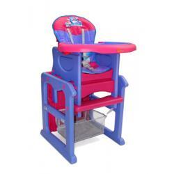 Krzesełko do karmienia MAX MILLY MALLY rozkładane na stoliczek do zabawy ocean