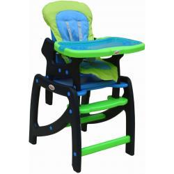 Krzesełko ARTI SWING niebiesko-zielone z płozami do bujania