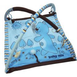 BABY MIX mata edukacyjna niebieski miś