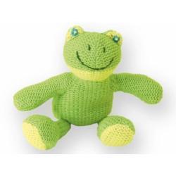 Kolorino sweterkowe zabawki żabka z grzechotką