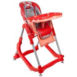 Krzesełko dla dzieci ARTI  modern czerwone 2w1 kołyska