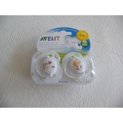 AVENT smoczek usp 0-6 BPA FREE ,2SZT