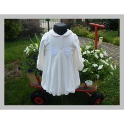 Sukieneczka bombka z weluru DANY rozm .86cm ecru