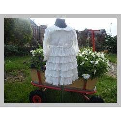 Sukieneczka do chrztu ecru LENKA  AL-DA rozm 68