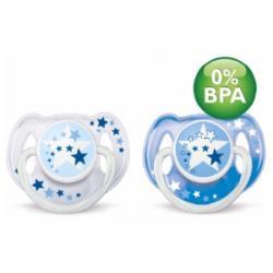SMOCZEK NOCNY BPA FREE 6-18 avent 2szt