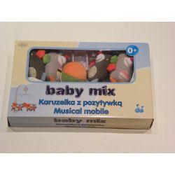 Karuzela z pozytywką kreciki baby mix plusz