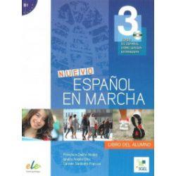 Nuevo. Espanol en marcha. Podręcznik, część 3 + CD - praca zbiorowa - Książka Pozostałe
