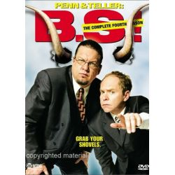 Penn & Teller: BS! The Complete Season 4 - Censored (DVD 2006)