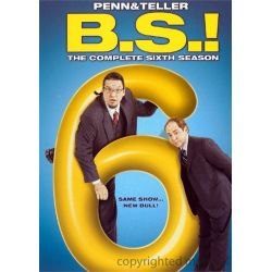Penn & Teller: BS! The Complete Season 6 - Censored (DVD 2008)