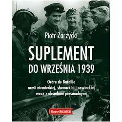 Suplement do września 1939 - Piotr Zarzycki - Książka Pozostałe