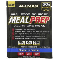 ALLMAX Nutrition, Real Food Sourced Meal Prep, All-In-One Meal, Blueberry Cobbler, 1.13 oz (32 g) Pozostałe