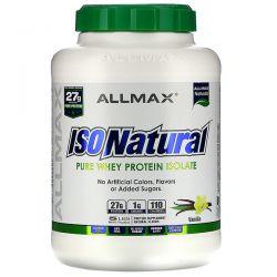 ALLMAX Nutrition, IsoNatural, Pure Whey Protein Isolate, Vanilla, 5 lbs (2.27 kg) Pozostałe