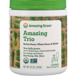 Amazing Grass, Amazing Trio, Barley Grass, Wheat Grass & Alfalfa, 8.5 oz (240 g)