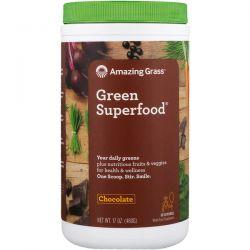 Amazing Grass, Green Superfood, Chocolate, 17 oz (480 g) Pozostałe