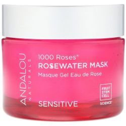 Andalou Naturals, 1000 Roses, Rosewater Mask, Sensitive, 1.7 oz (50 g) Pozostałe