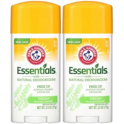 Arm & Hammer, Essentials with Natural Deodorizers, Deodorant, Fresh Rosemary Lavender, Twin Pack, 2.5 oz (71 g) Each Pozostałe