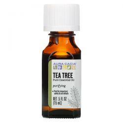 Aura Cacia, Pure Essential Oil, Tea Tree, .5 fl oz (15 ml) Pozostałe