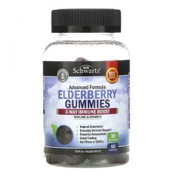 BioSchwartz, Advanced Formula Elderberry Gummies with Zinc & Vitamin C, 60 Gummies Pozostałe