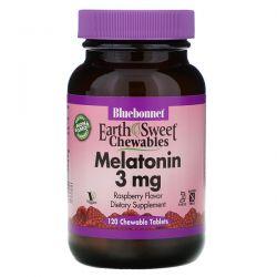 Bluebonnet Nutrition, EarthSweet Chewables, Melatonin, Natural Raspberry Flavor, 3 mg, 120 Chewable Tablets Pozostałe