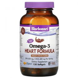 Bluebonnet Nutrition, Natural Omega-3 Heart Formula, 120 Softgels Pozostałe