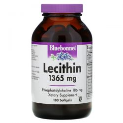 Bluebonnet Nutrition, Natural Lecithin, 1,365 mg, 180 Softgels Pozostałe