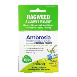 Boiron, Ambrosia, Ragweed Allergy Relief, 80 Pellets