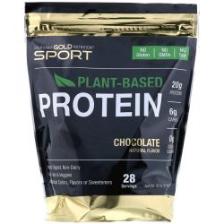 California Gold Nutrition, Chocolate Plant-Based Protein, Vegan, Easy to Digest, 2 lb (907 g) Pozostałe